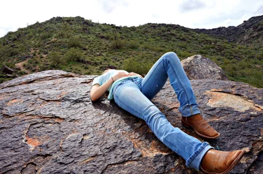 relaxing-on-a-rock