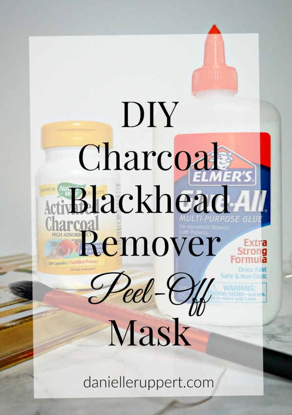DIY Charcoal Blackhead Remover Peel-Off Mask