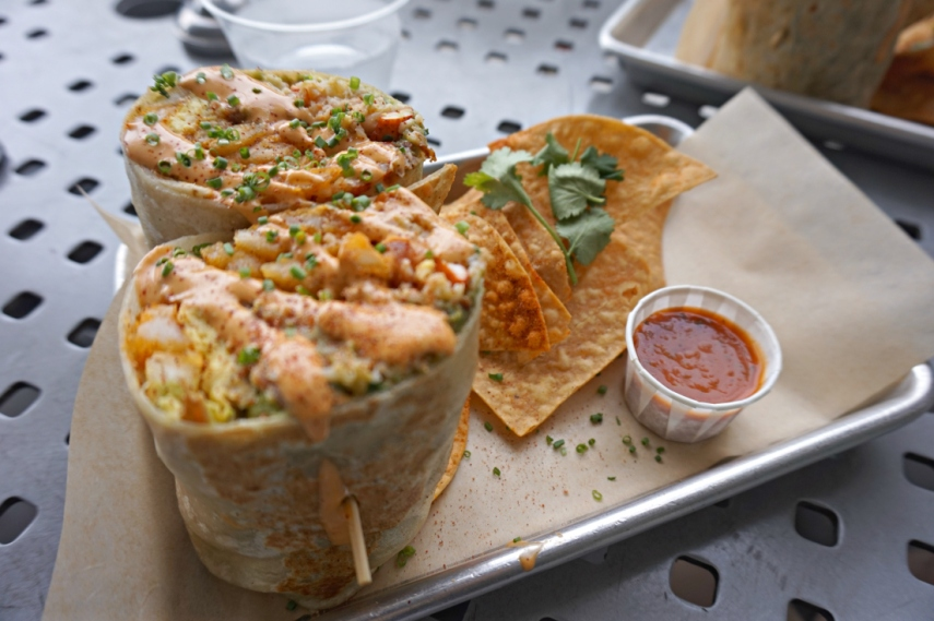 SlapFish Lobster Burrito